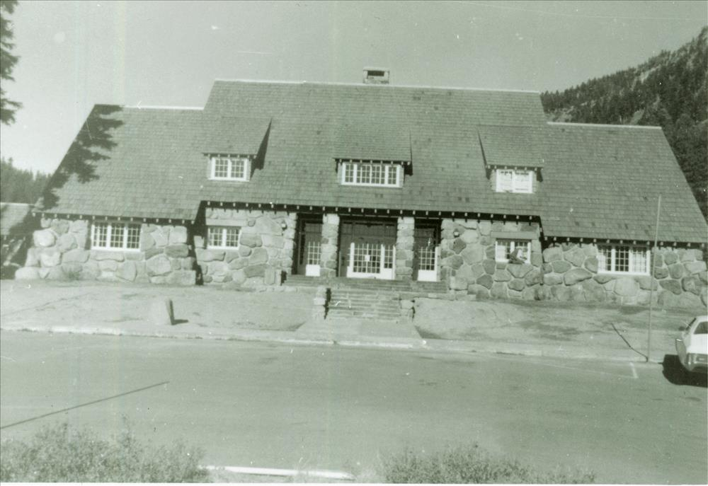Administration Building after rehabilitation in Crater Lake NP, circa 1987
