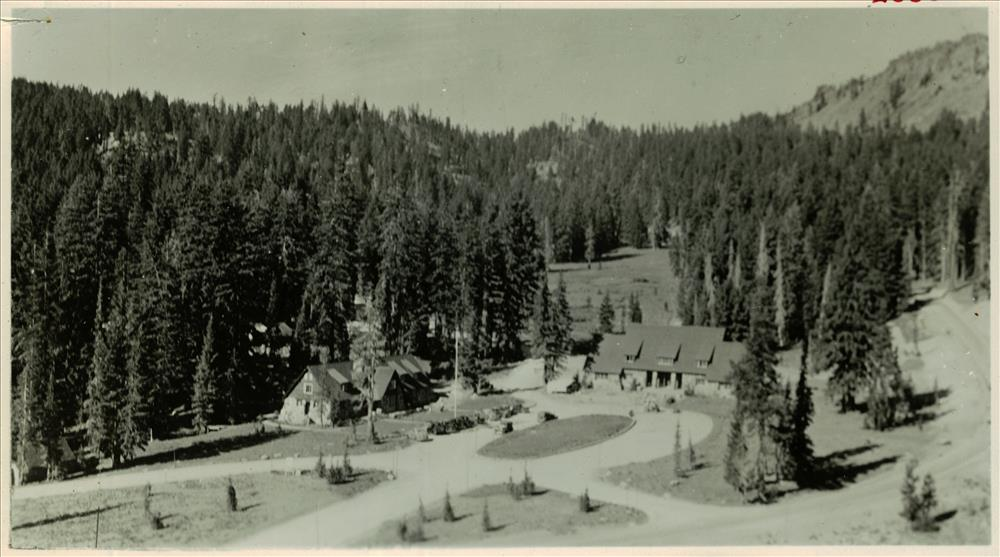 Administration Building and Ranger Dorm in Crater Lake NP, 1934