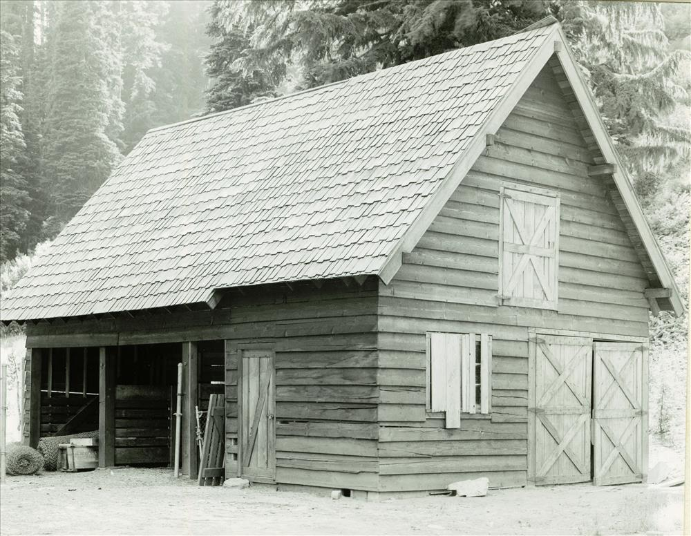 Barn Storage Shed in Crater Lake NP, 1941 back of Sleepy Hollow, Grant photo