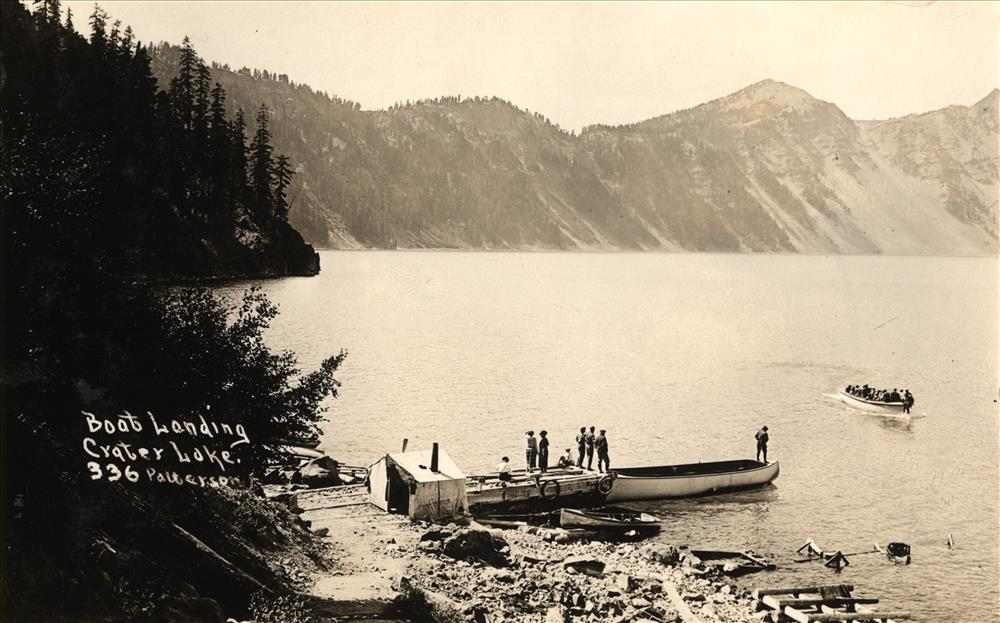 Cleatwood Boat Landing at Crater Lake, circa 1930