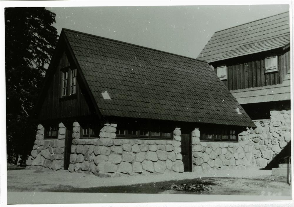 Building # 72 behind cafeteria in Crater Lake NP, circa 1935