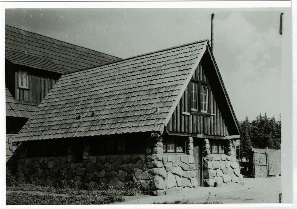 Building # 72 behind cafeteria in Crater Lake NP, circa 1940