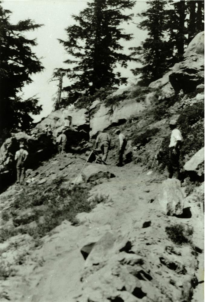 Building the Discovery Point Trail in Crater Lake NP, 1932