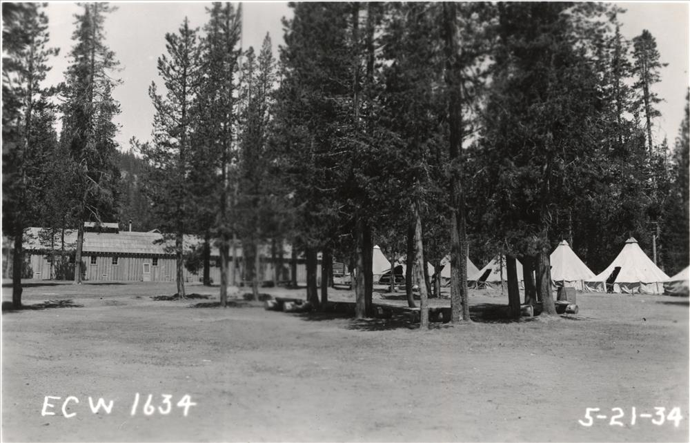 CCC Camp at Annie Springs in Crater Lake NP, 1934 Present location of Mazama CG 5-7-34 2