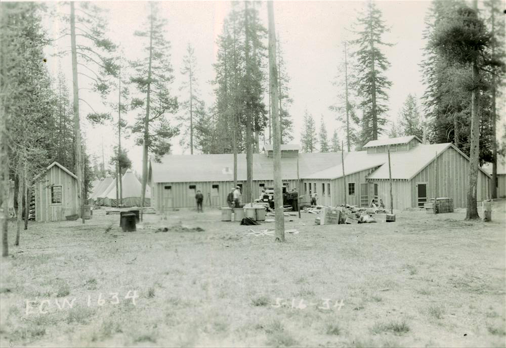 CCC Camp at Annie Springs in Crater Lake NP, 1934 Present location of Mazama CG 5-7-34