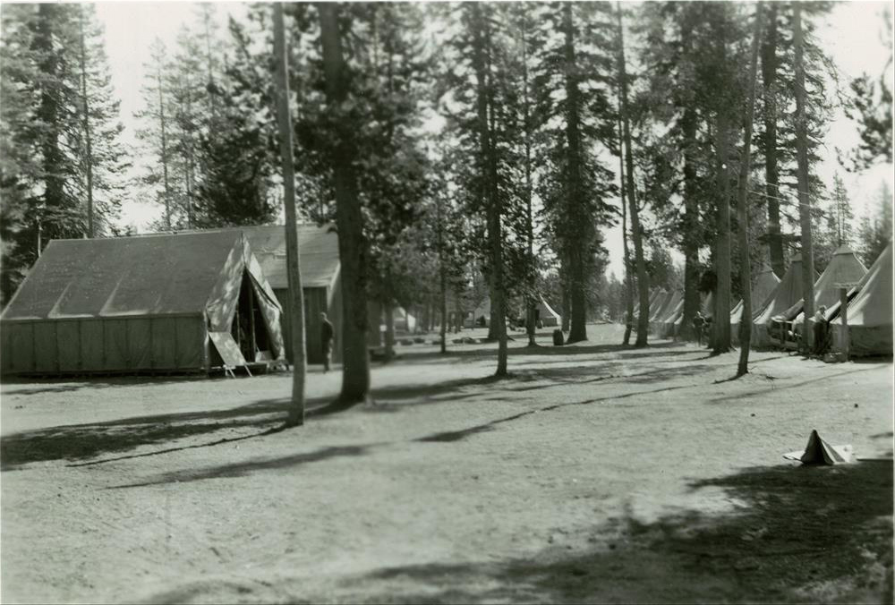 CCC Camp at Annie Springs in Crater Lake NP, 1934