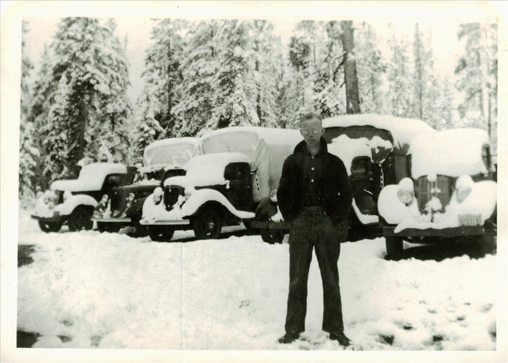 CCC Trucks in Crater Lake NP, 1938