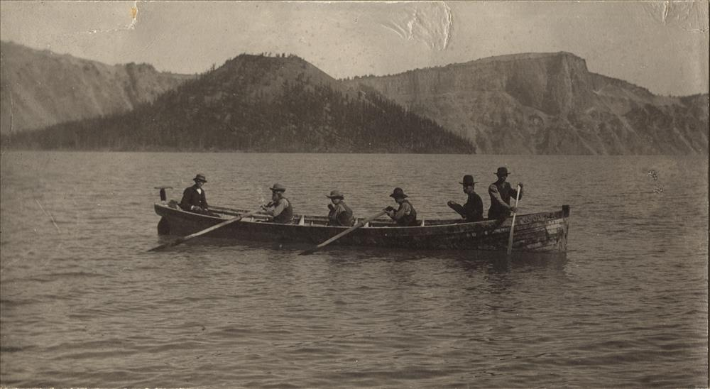 CLEETWOOD. The boat was used for sounding Crater Lake in 1886, was 26 feet long and five feet ten inches beam.