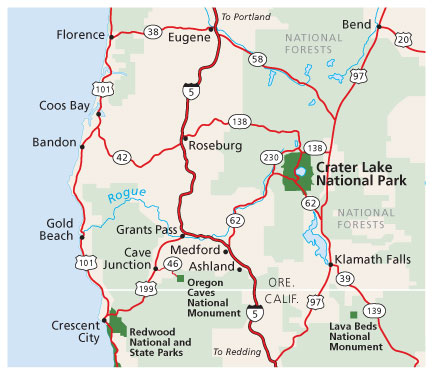 crater lake national park map pdf