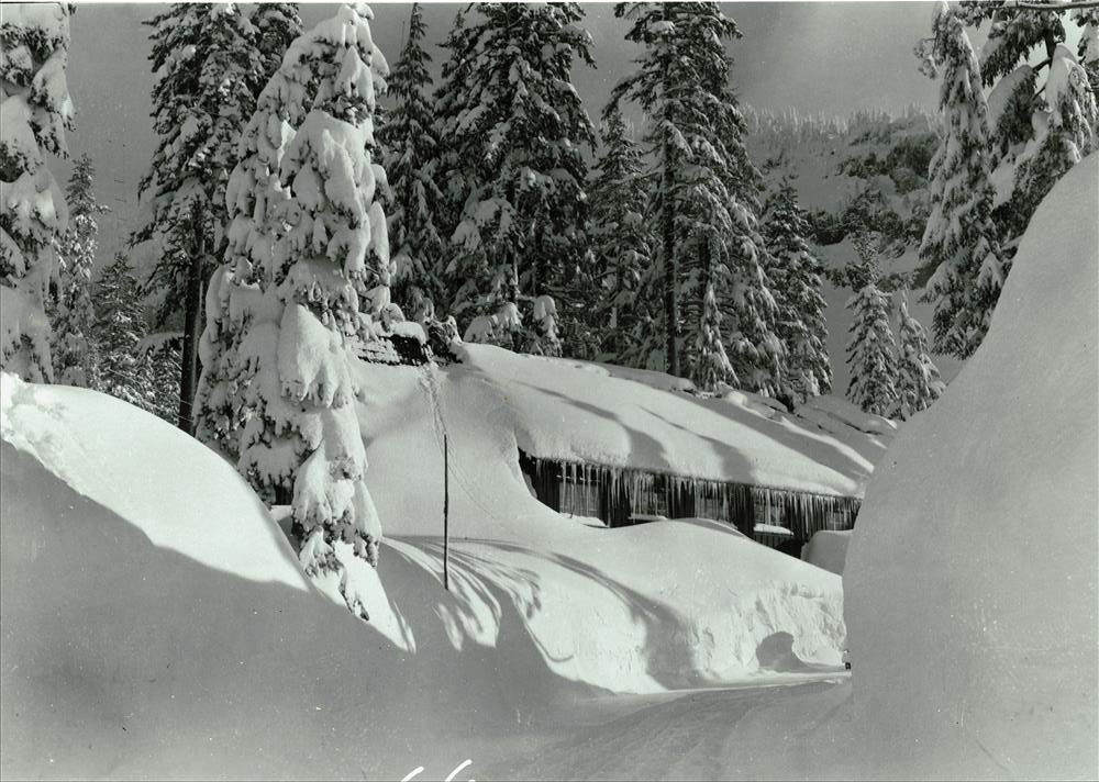 Canfield Mess Hall Under Snow in Crater Lake NP (date unknown)