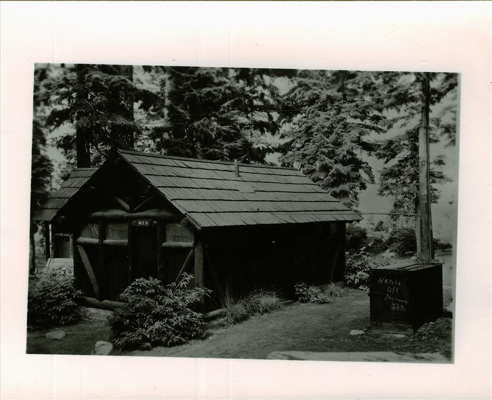 Comfort Station in Rim Campground in Crater Lake NP, before reconstruction of 1956