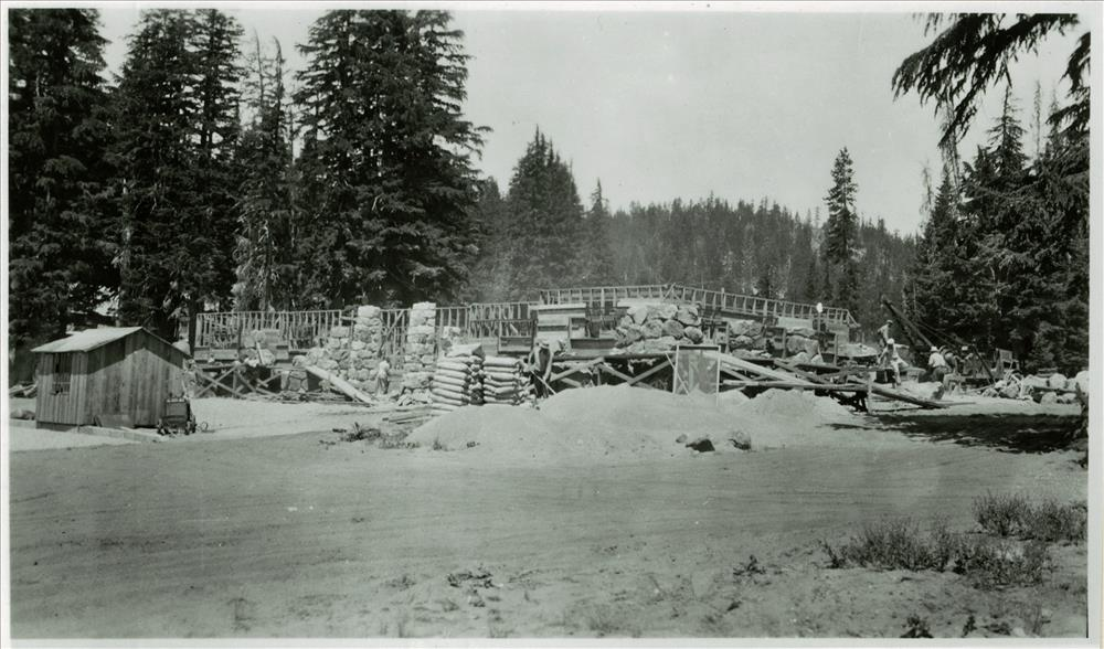 Construction of Administration Building in Crater Lake NP, 1934 2