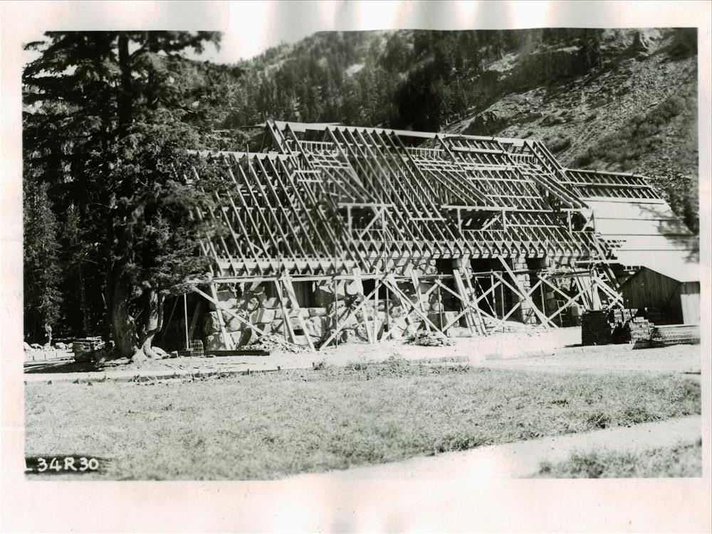 Construction of Administration Building in Crater Lake NP, 1934
