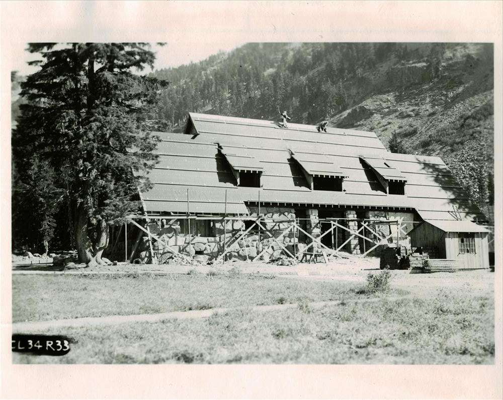 Construction of the Administration Building in Crater Lake NP, 1934 3