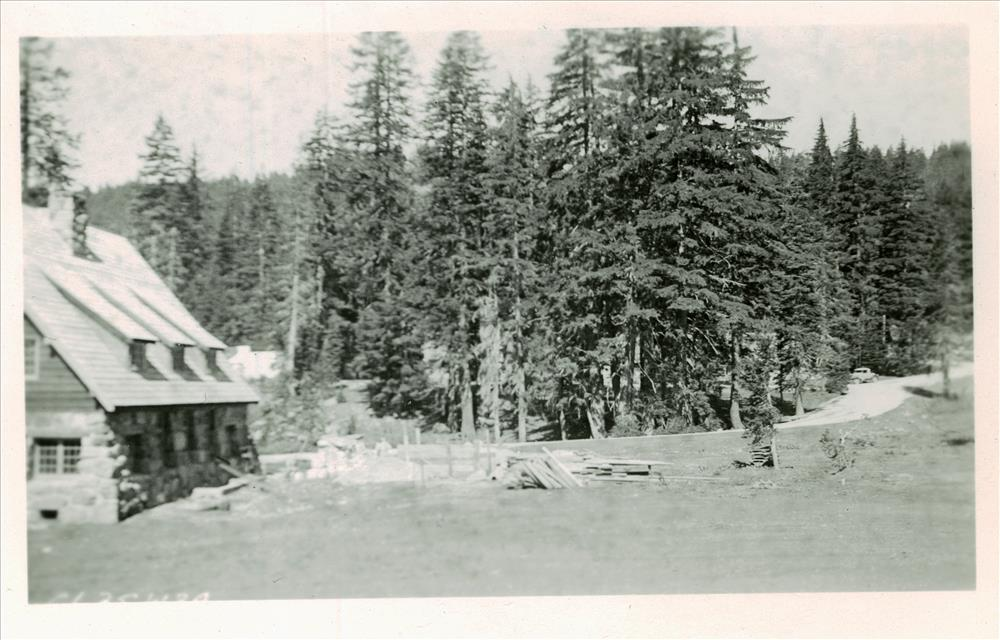 Construction of the Administration Building in Crater Lake NP, 1934