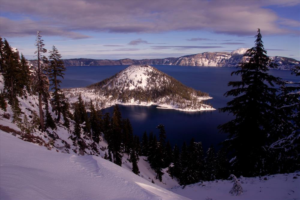 Crater Lake NP in Winter, November 2009 Dave Harrison West Rim ski trail