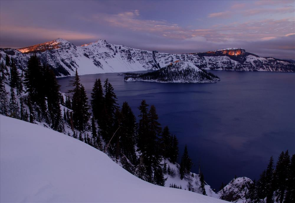Crater Lake NP in Winter, November 2009, Dave Harrison