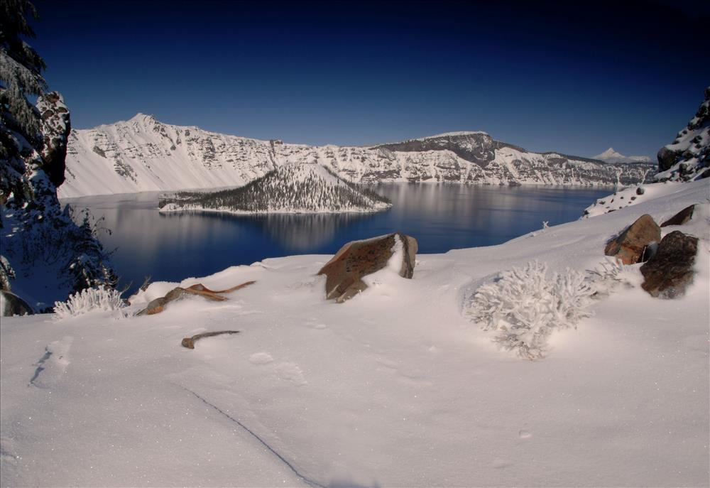 Crater Lake Winter in Crater Lake NP, 2009 Dave Harrison 2