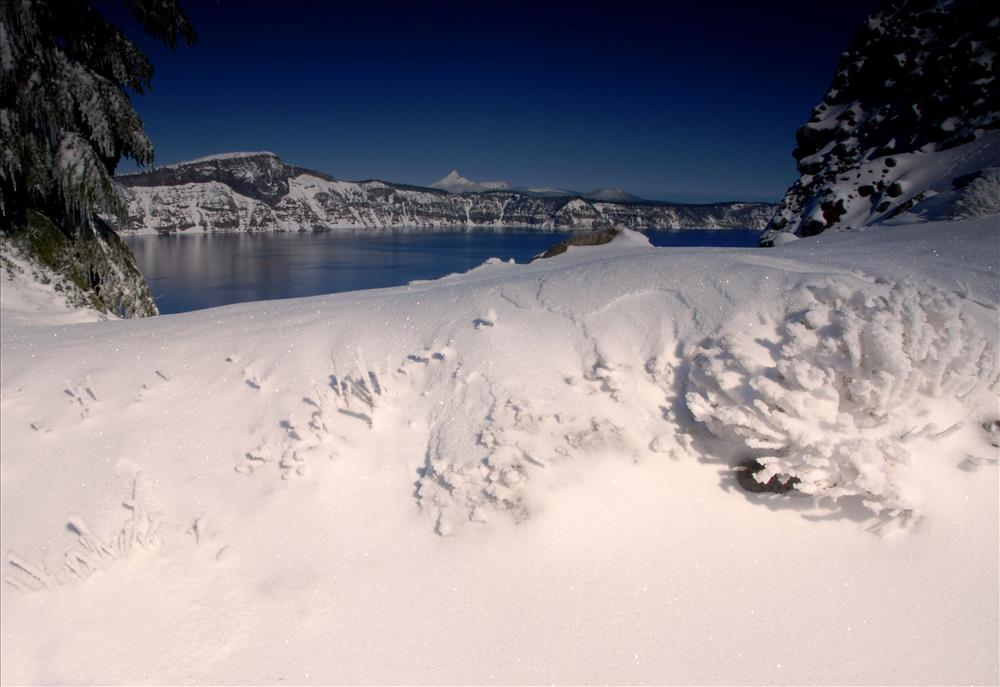 Crater Lake Winter in Crater Lake NP, 2009 Dave Harrison 3