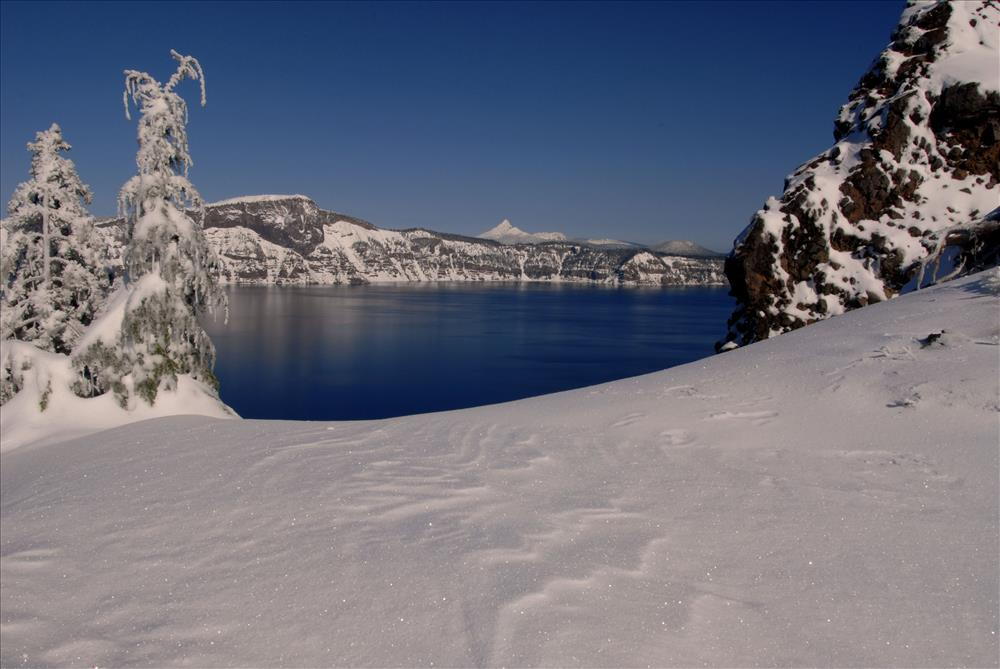 Crater Lake Winter in Crater Lake NP, 2009 Dave Harrison 4