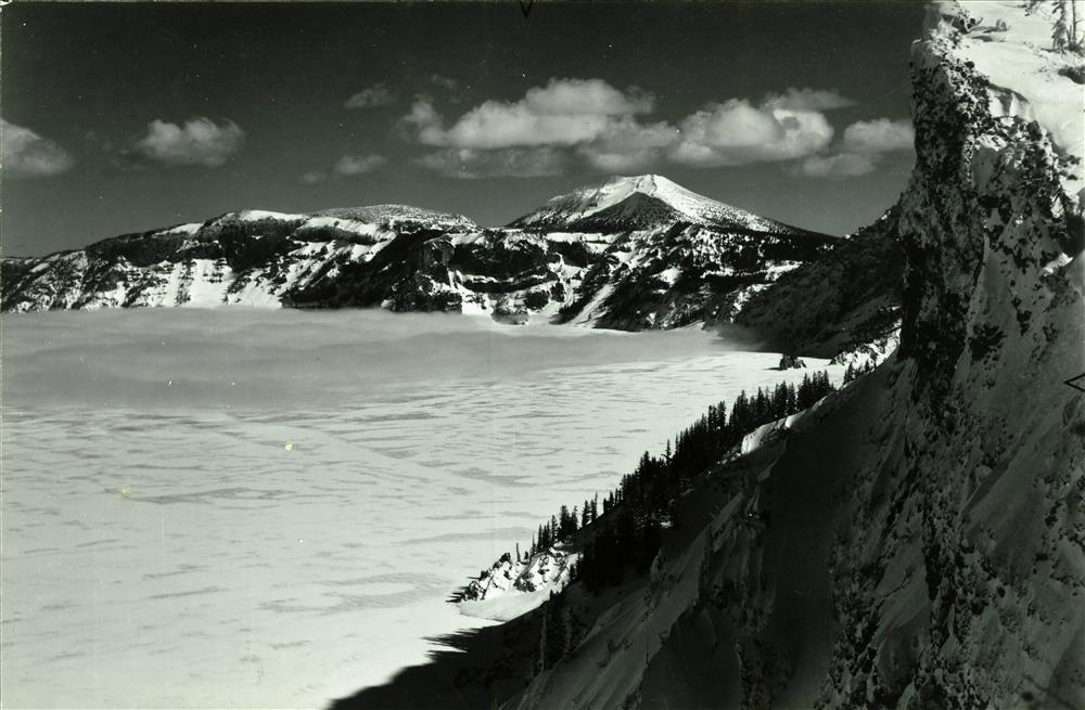 Crater Lake frozen over, January 1949 3
