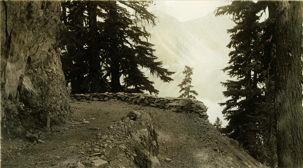 Crater Wall Trail, used from 1928 to 1959, in Crater Lake NP