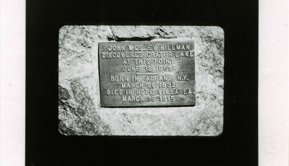 Discovery Point Plaque in Crater Lake NP