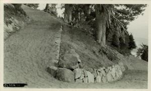Discovery Point Trail in Crater Lake NP, 1932
