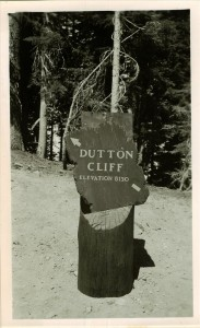 Dutton Cliff Elevation Sign in Crater Lake NP (date unknown)