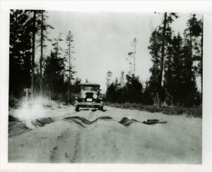 East Entrance Road in Crater Lake NP, 1920s or 1930s