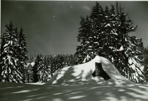 Employee Quarters in Winter in Crater Lake NP (date unknown)