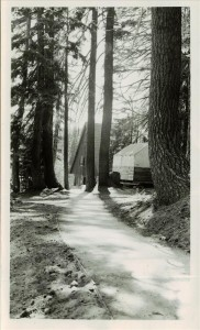 Emulsified Asphalt work between Ranger Down and Mess Hall in Crater Lake NP, 1937 CCC project
