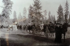 Enroute to Huckleberry Mountain, circa 1900 Hescock Family photo
