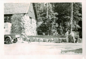 Extending the end of the warehouse in Crater Lake NP, 1934