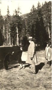 Feeding a Bear in Crater Lake NP (date unknown)