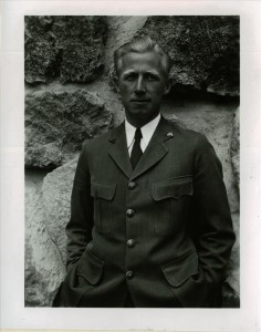 Francis G. Lange in Crater Lake NP, circa 1930s Landscape Architect at CLNP