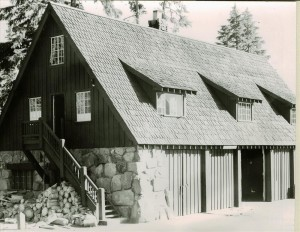 Garage and Machine Shop Near New Garage, Grant Aug. 14, 1941 Now Fire Hall and Naturalist Museum