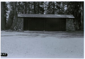 Garage (building 33) in Crater Lake NP, 1934 Headquarters