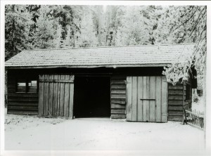 Garage in Crater Lake NP, 1941 Annie Spring Grant