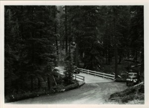 Goodbye Creek detour bridge (Newly constructed) Between Annie Springs and Headquarters 1940's