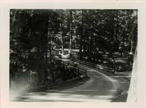 Goodbye Creek detour bridge (Road paved) Between Annie Springs and Headquarters late 1940's