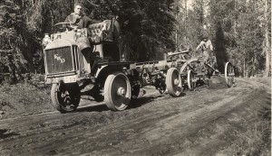 Grading Rim Drive in Crater Lake NP (date unknown)