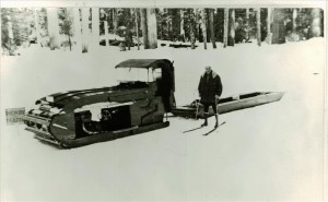 Ike Davidson and his Sno cat in Crater Lake NP (date unknown)