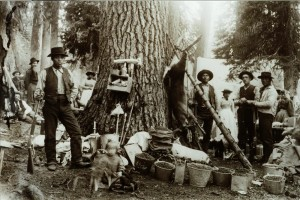 In camp at Huckleberry Mountain Rogue River Nat'l Forest circa 1900 Hescock Family Collection