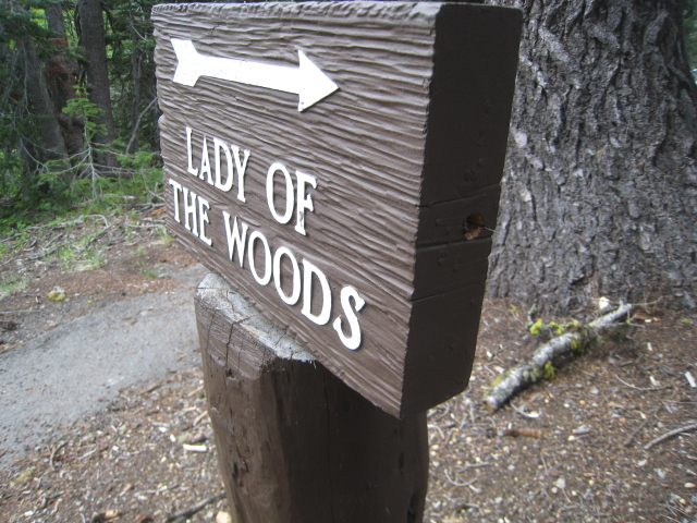 Lady of the Woods Trailhead Sign Jennifer Gifford Trails Supervisor 2015