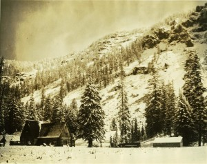 Log Administration Building at Munson Valley Headquarters in Crater Lake NP (date unknown)