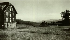 Looking SE from Lodge across the Klamath Basin in Crater Lake NP, 1935 JV Lewis