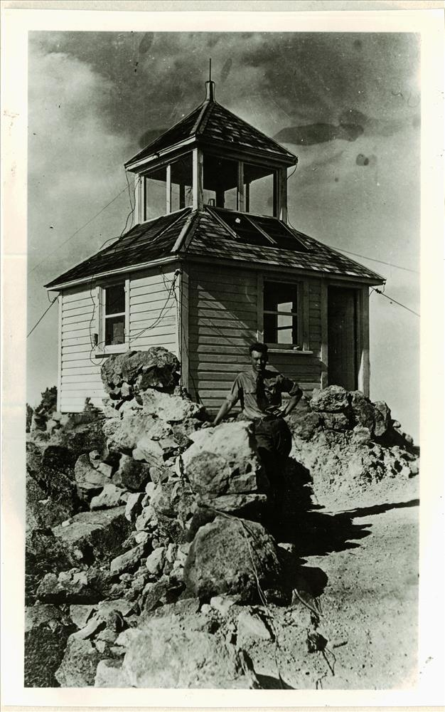 Mt. Scott Lookout in Crater Lake NP, circa 1935