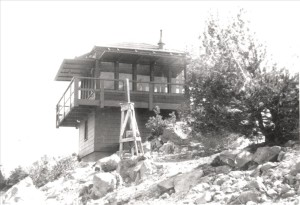 Mt. Scott Lookout in Crater Lake NP, circa 1955