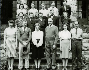 Office staff in Crater Lake NP, 1941